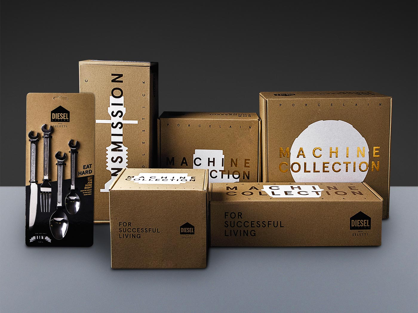 Badini Creative Studio - packaging - Diesel - Machine Collection