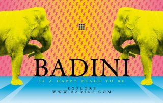 Badini Creative Studio - grafiche - badini is a happy place to be