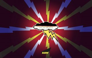 BADINI - graphics - OUT OF THE BLUE