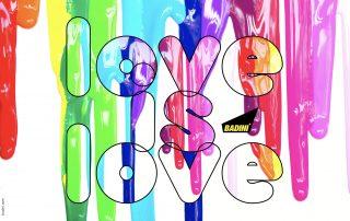 BADINI - graphics - LOVE is LOVE